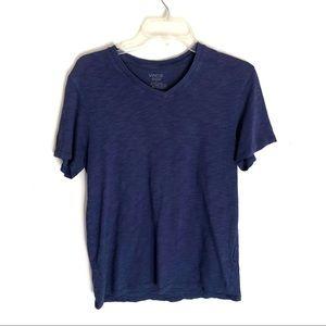 Vince purple blue V neck mens short sleeve t-shirt